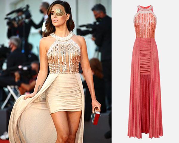 jessica notaro vestito abito elisabetta franchi ai20 festival venezia 2020