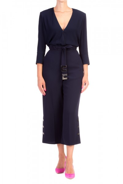 Elisabetta Franchi  Blouse with contrasting piping CA22296E2 Blu