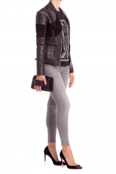 Elisabetta Franchi  Jeans skinny con logo EF PJ04D86E2