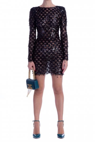 Elisabetta Franchi  Embroidered mini dress in tulle AR08M87E2