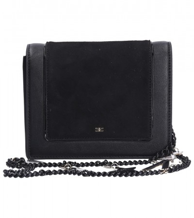 Elisabetta Franchi  Small bag with chain strap with charms BS23A91E2 Nero