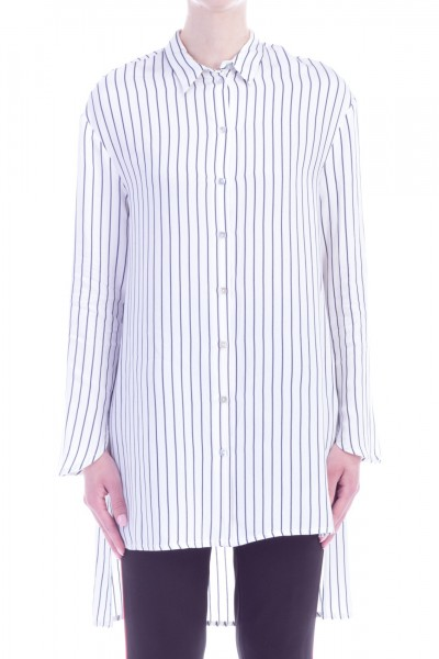 Manila Grace  Oversized striped shirt C126VI VAR.UNICA