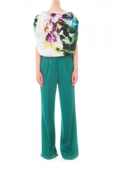 Manila Grace  Blouse with floral pattern SS3896