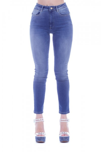 Manila Grace  Jeans with logo on the back J401D6 VAR.UNICA