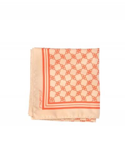 Elisabetta Franchi  Silk scarf with print FO01F11E2 Cammello/Lacca