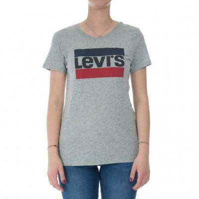 Levi's  T-hirt Levi Donna Logo 1986 0303 GREY 268618_1151922