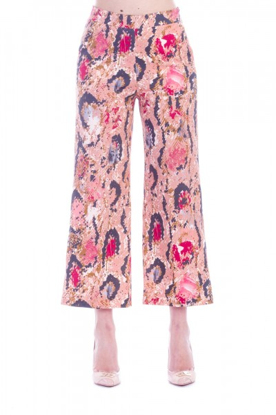 Manila Grace  Python crop trousers P621CS VAR.UNICA