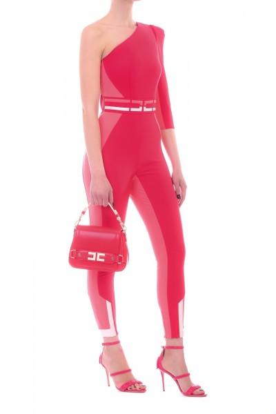 Elisabetta Franchi  Tuta monospalla con logo TU17292E2 Ribes/Flamingo
