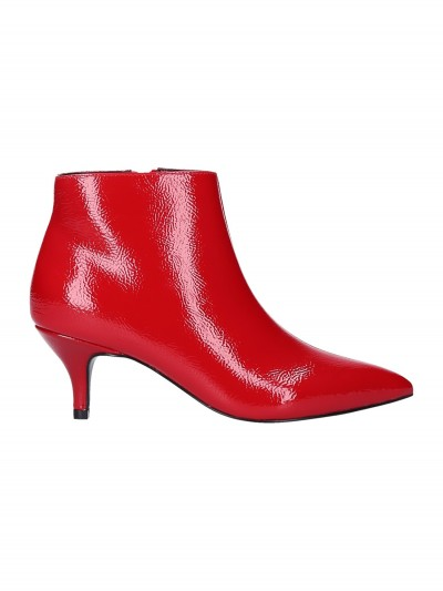Twin-Set  My Twin - Patent leather ankle boots 192MCT052 PAPAVERO