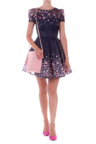 Elisabetta Franchi  Circle dress with star print AB97196E2 Blu
