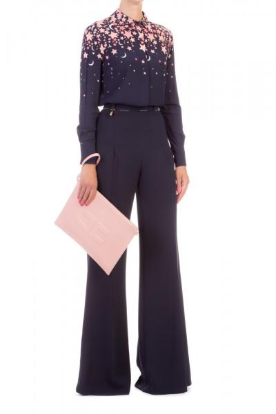 Elisabetta Franchi  Palazzo trousers with charms PA30296E2 Blu