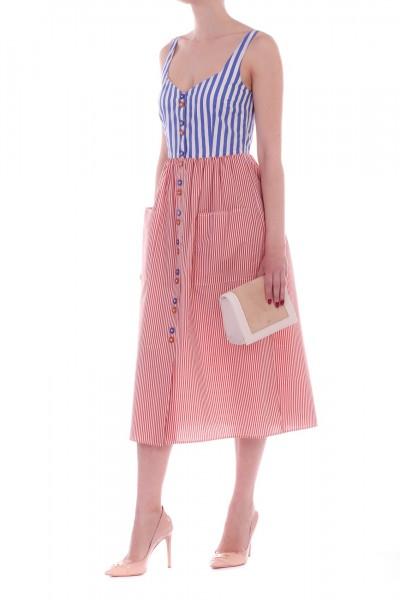 Manila Grace  Abito bicolor a righe A525CI BLUETTE