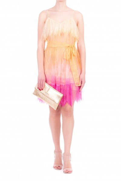 Twin-Set  Lace dress with dégradé effect 201TT2281 MUL.TIE DYE PINK