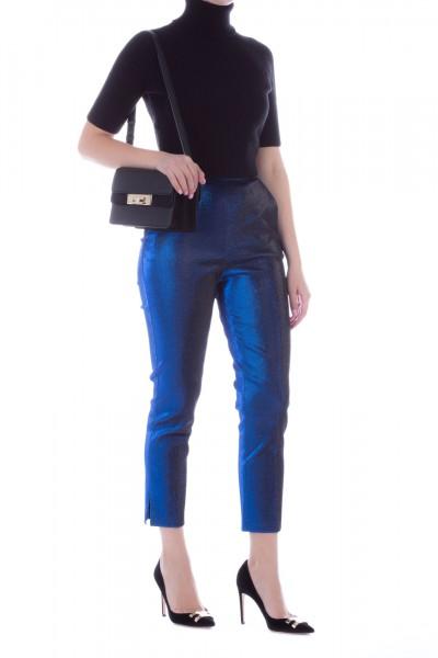 Elisabetta Franchi  Lurex cigarette trousers PA03697E2 Blu