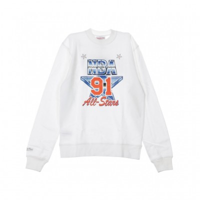 Mitchell & Ness  FELPA GIROCOLLO AG CREW FLEECE ALL TAR EAT 1991 WHITE 321092_1405639