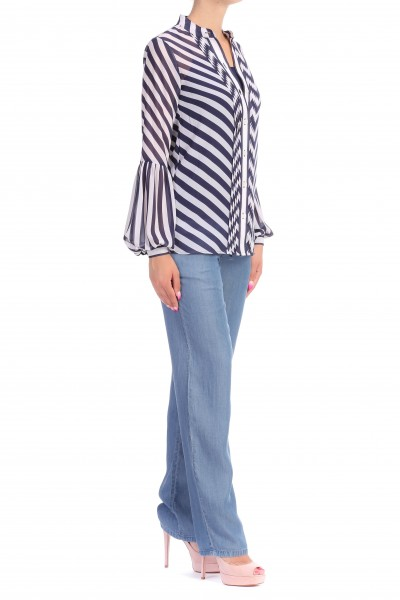 Michael Kors  STRIPED SHIRT WITH PLEATS MS84LEC8MG