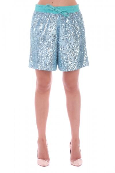 Motel  Shorts con paillettes S19P160 Verde
