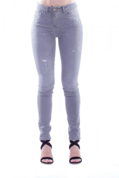 Elisabetta Franchi  Jeans Skinny a 5 tasche PJ01D91E2 Light Grey