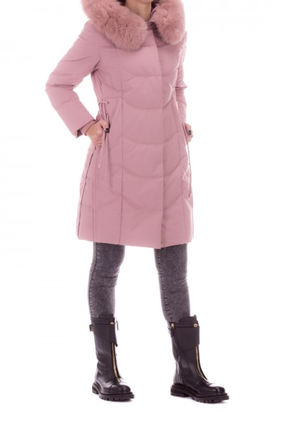 Bosideng  Long quilted jacket with hood with fur F20ITW41012