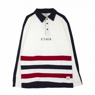Ethik  POLO CAPUS RUGBY WHITE/NAVY/RED 385061_1639066