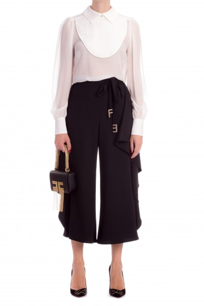 Elisabetta Franchi  Silk shirt with pleated insert CA14888E2