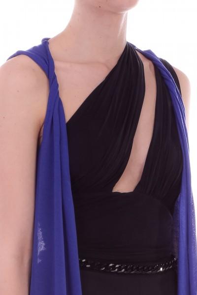 Manila Grace  Gilet in maglia lungo K739MU BLUETTE