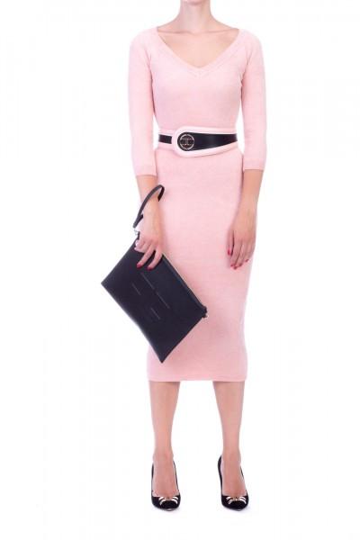 Elisabetta Franchi  Knit longuette dress AM35S96E2 Rosa Antico