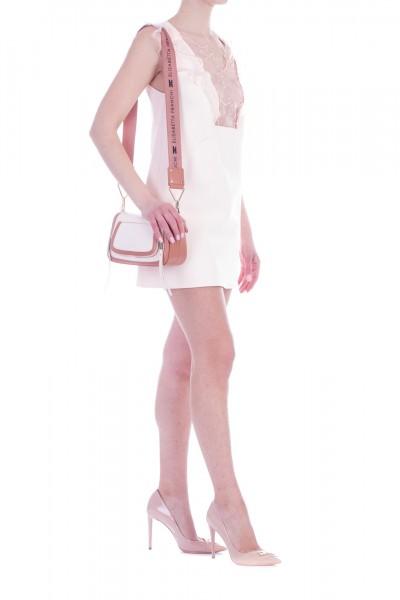 Elisabetta Franchi  Mini dress with stars embroidery AB73991E2 Cipria