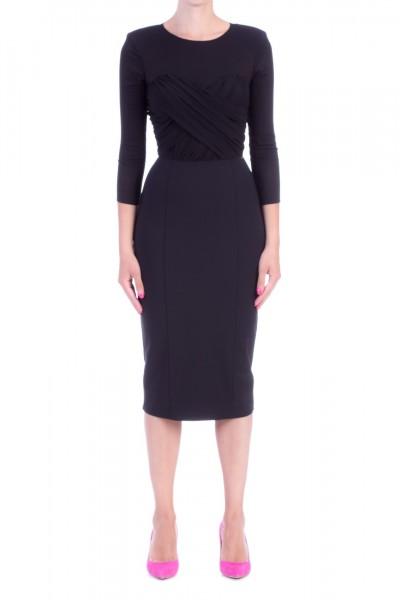 Elisabetta Franchi  Pencil dress with enveloping top AB90696E2 Nero