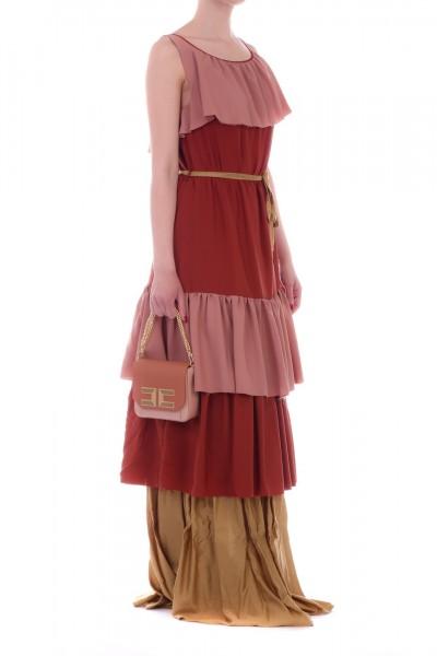 Manila Grace  Long dress with flounces R702VU VAR.UNICA