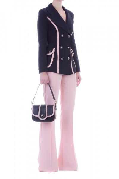 Elisabetta Franchi  Jacket with contrasting trims GI16897E2 Nero/Rosa antico