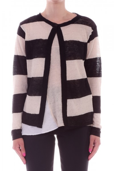 Manila Grace  Striped cardigan with crewneck M751RI VAR.UNICA