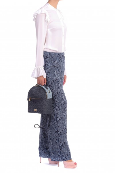 Michael Kors  PANTALONI IN GEORGETTE CON FANTASIA PAISLEY MU83H0D9AS