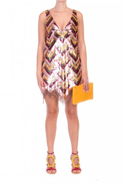 Elisabetta Franchi  Dress with sequins and fringes AR07J87E2