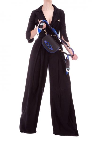 Elisabetta Franchi  Completo giacca corta e pantalone con pence TP03201E2 Nero