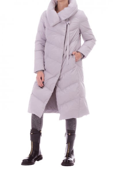 Bosideng  Long quilted jacket diagonal closure F20ITW41116