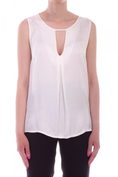 Motel  Top with keyhole neckline 47013BSA BIANCO