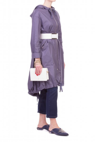 Manila Grace  BANDEAU ASYMMETRIC DRESS WITH BELT AND FLORAL PATTERN K209CI