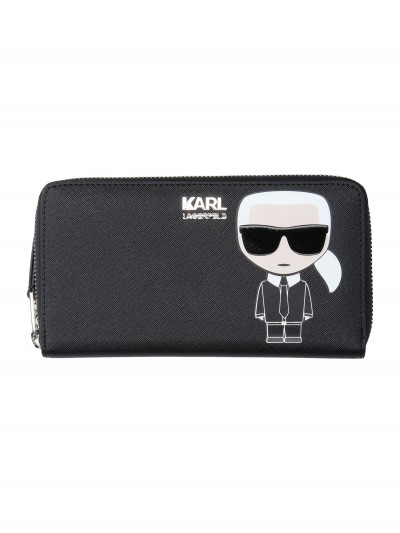 Karl Lagerfeld  Wallet with logo and Karl print 96KW3232 NERO