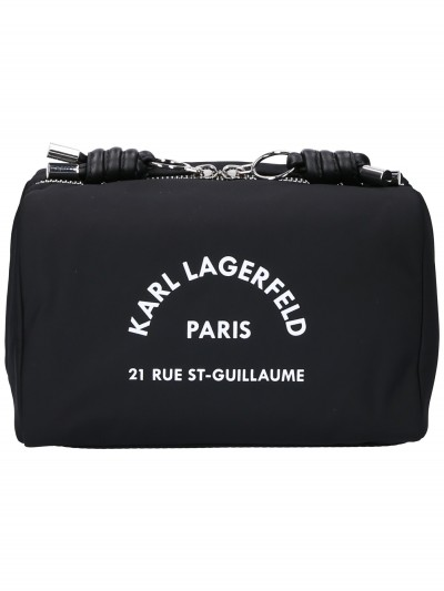 Karl Lagerfeld  Beauty case with Rue St. Guilllaume logo 96KW3218 NERO