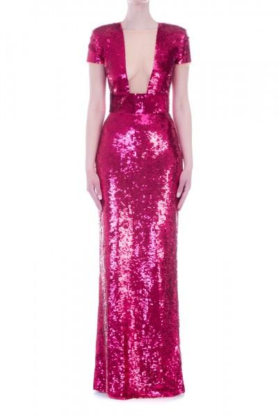 Elisabetta Franchi  Embroidered long dress AR14M92E2 Bouganville