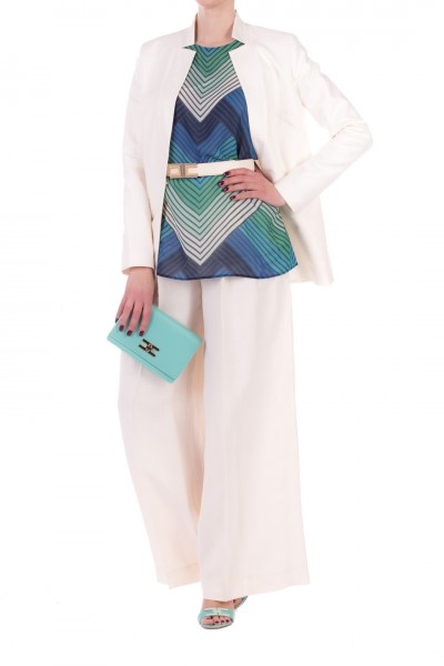 Twin-Set  Pantaloni ampi in canvas 201TT2217 ANTIQUE WHITE
