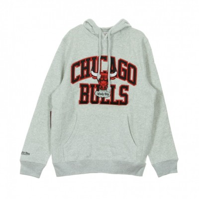Mitchell & Ness  FELPA CAPPUCCIO PLAYOFF WIN HOODY CHIBUL HEAHTER GREY/ORIGINAL TEAM COLOR 320289_1401484