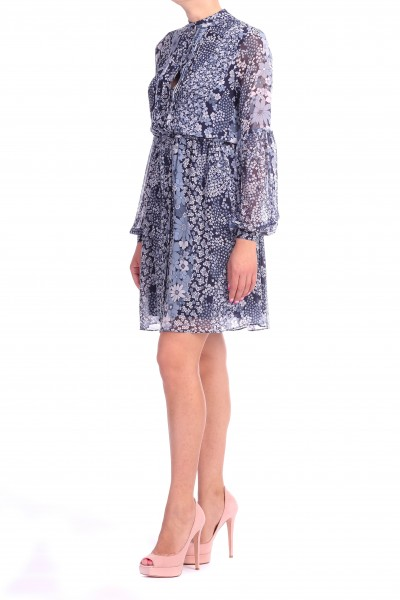 Michael Kors  LONG SLEEVES DRESS WITH FLORAL PATTERN MU88YB39AG