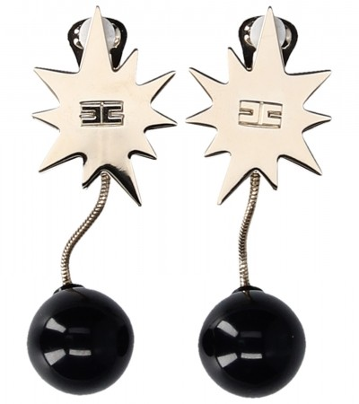 Elisabetta Franchi  Pending earrings with bomb OR71B93E2 Nero