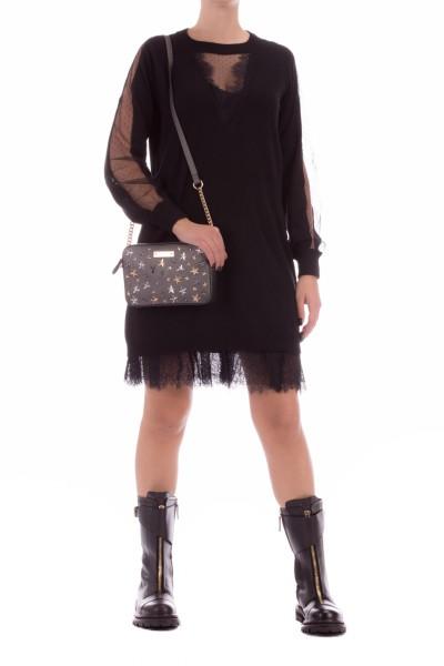Twin-Set  Wool blend dress with slip 202TT3132 NERO