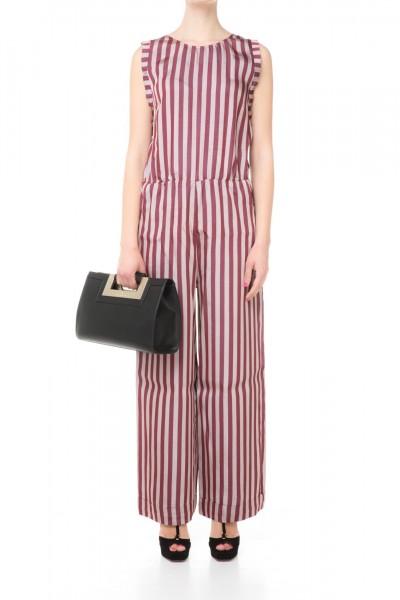 Jucca  Striped sleeveless jumpsuit J2317022