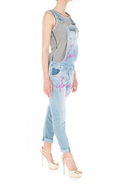 Mangano  Denim overall with print P16PMNG00222