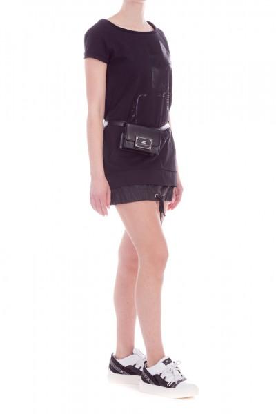 Elisabetta Franchi  Maxi-thisrt dress with drawstring AB71191E2 Nero