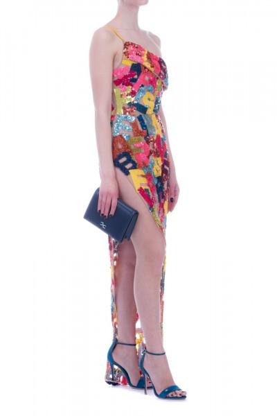 Elisabetta Franchi  Long dress with lettering emboridery AR25A93E2 Multicolor